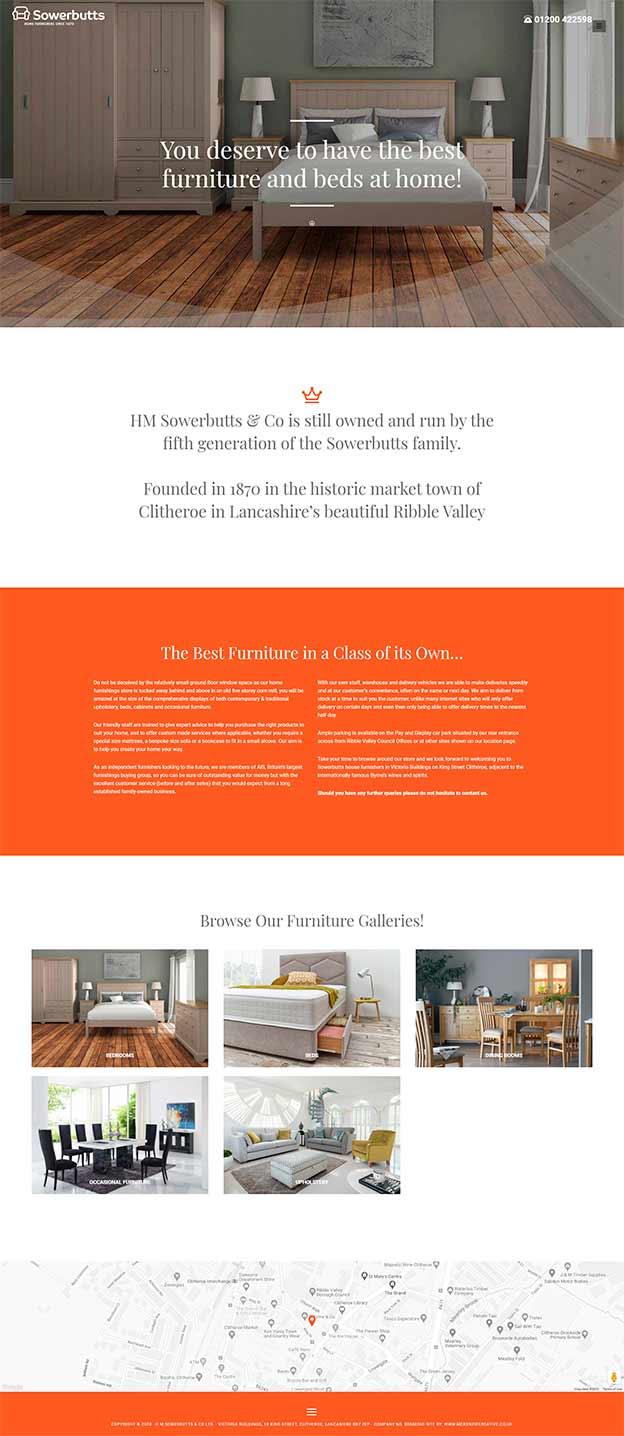 Sowerbutts Furniture website
